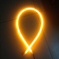 Amber Yellow Color Led Flexible Headlight Tear Strip