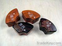 Metal tea or coffee tin cans