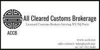 US Customs Clearance New York / All Cleared Customs Brokerage