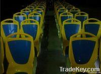 Plastic city bus seat