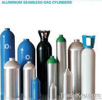 Aluminum oxygen gas cylinder 0.30L , 0.75L, 1L, 3L, 4L, 7L, 8L, 10L, 12L