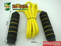 Bicolor Sponge Handle Fitness Rope Skipping, Game Skipping