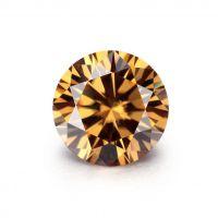 High quality loose moissanite Vivid Brown round cut Carat-1.00ct_6.80mm
