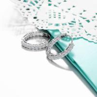 Diamond Studded in 10k white gold Earring.