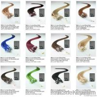 wholesale 100% human remy and non-remy nano ring hair extension