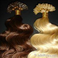 pvc bags colored AAA wholesale hot selling  human virgin flat hair