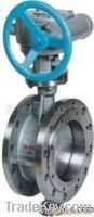 marine worm gear butterfly valve flange type