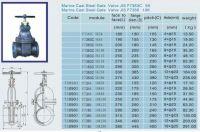 JIS marine cast steel gate valve F7366