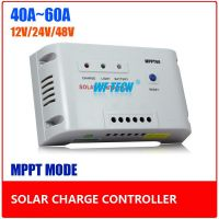 40A-60A Intelligent MPPT Solar Charge Controller 12V/24V Auto Identfication with Temperature Compensation Function to Increase Solar Panel Efficiency 30%