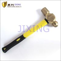 Non sparking ball pein hammer, copper alloy explosion proof safety tool