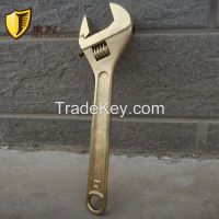 Non sparking Adjustable Wrench Spanner, Copper Alloy Safety Hand Tools