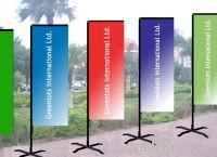 advertising flag, election flag, promotional rectangular flag banner