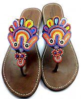 Peacock sandals