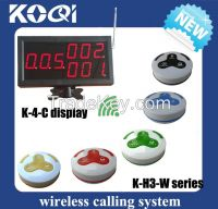 Wireless Calling Bell System for restaurant equipments K-4-C display with K-H3 transmitter 433.92mhz