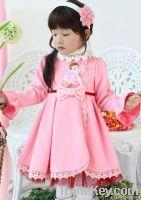 100% cotton knitted girla dress
