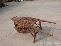 Antique wood cart