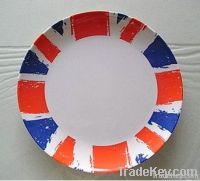 Rounded melamine plate
