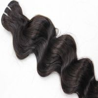 Hot sell 100% human hair, virgin Peruvian human hair weft.FOB price:US$20-50.