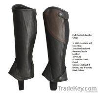 Rider Leather Half Chaps