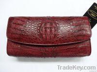 Clutch women crocodile leather
