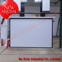 100 Inch Projector Electric Screen with RF Remote Control(matte white)