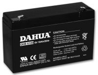 Valve regulated lead acid battery, 6V10AH