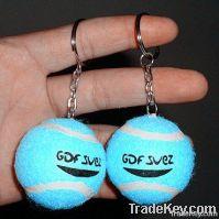 Mini tennis ball keychain