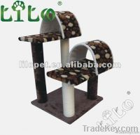 Two perches cat tower scratching posts 177