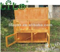Wood rabbit hutch cage house R0790