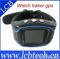 GPS kids tracker watch with three fast dial and SOS alarm button