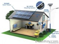 Solar electric Generator system for home use