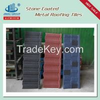 roman colorful stone coated metal roofing tile