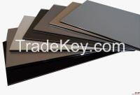 silver /ivory white  PE/PVDF Coated Aluminium Composite Panel