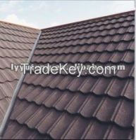 Forest green classical / bond stone coated steel roofing tile/stone coated roofing tiles