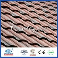 Colorful classic tile Stone coated roofing tile/stone coated steel roofing tile