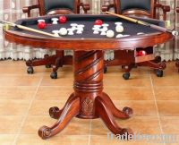 GT-02 solid wood 3 in 1 antique game table