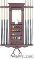 10 cue and ball rack