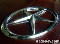 Electroplating plastic decoration parts auto logo badge