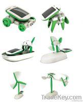 6 in 1 educational kids solar toys