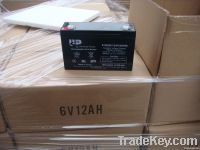 AGM Sealed lead acid battery 6V12AH