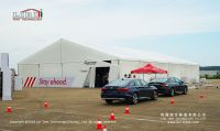 20m width clear span car show tent with alumnium frame and PVC fabric