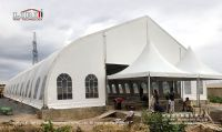 clear span big size 20x50m curve tent for outdoor event, party, wedding, church
