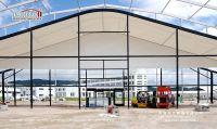 35m width black arcum tent with alumnium frame and PVC fabric