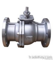 2PC Flanged Ends Metal Ball Valve