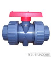 High Quality 2PC Flanged Ends Plastic Ball Valve