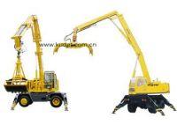 QLYS20DZ Dual-power Hydraulic Wheeled Folded Boom Grabbing Crane