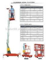 Single and Double-Mast Aluminum aerial platform lift