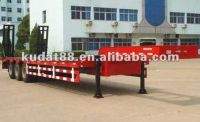 low flat-bed semitrailer