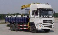 DONGFENG TIANLONG double axles truck mounted crane (10T)