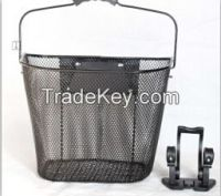 china quick release steel wire basket with handle bar